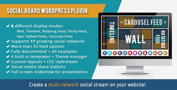 WordPress Social Board