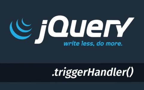 jquery triggerHandler