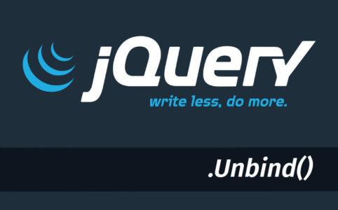 jquery unbind